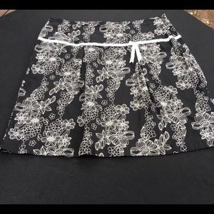 Claudia Richard Skirt Plus 2X XXL Black Floral